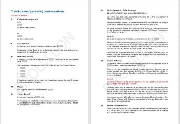 contrat de travail 80 Download Contrat de travail standard | UPSA | AGVS   Section Valais contrat de travail 80